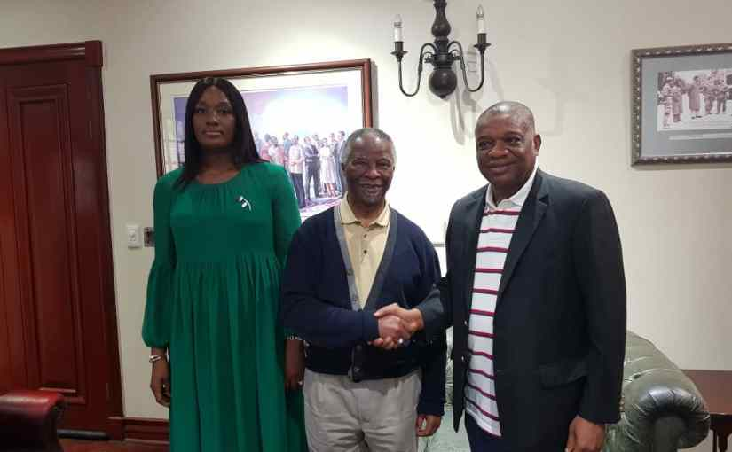 Former Governor of Abia State Dr. Orji Uzor Kalu, meets with the former President of South Africa, Thabo Mbeki in Johannesburg over Xenophobic Attacks (photos)