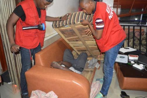 32 Yahoo Boys hiding inside chairs arrested by the EFCC in Ogun(photos)