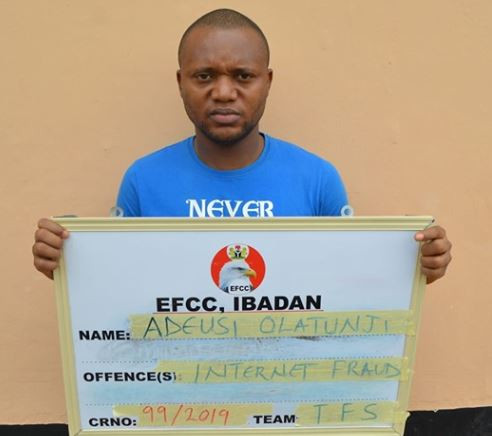 Nigerian criminologist arrested by the EFCC for internetfraud