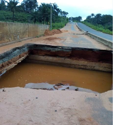 Imo State Statue Building Governor Rochas Okorocha's village bridge collapses for the 3rdtime