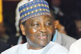 Former Nigerian Head of State Gen. Yakubu Gowon, Slumps Down At Burial In Delta State (photos)