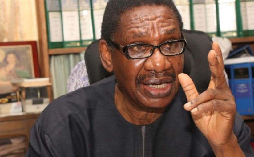 Professor of Law, Itse Sagay disagrees with  Supreme Court's verdict On Zamfara and Rivers states, Tells APC What to do