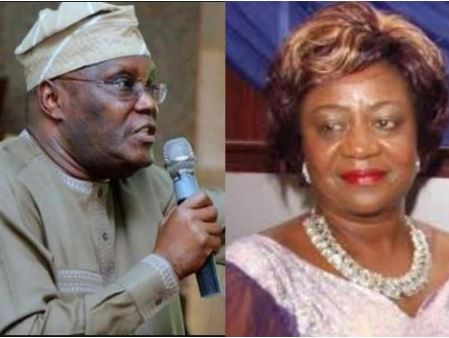 """""""Please someone should get his pills, he's depressed"""" – Lauretta Onochie reacts to Atiku's #500m case againsther"""