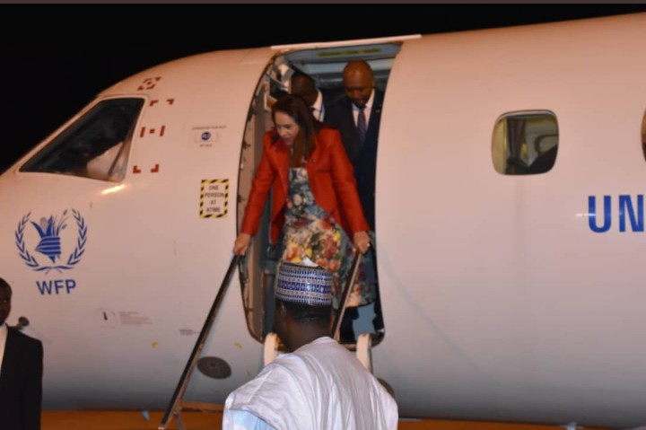 UN's president María Garces arrives in Nigeria
