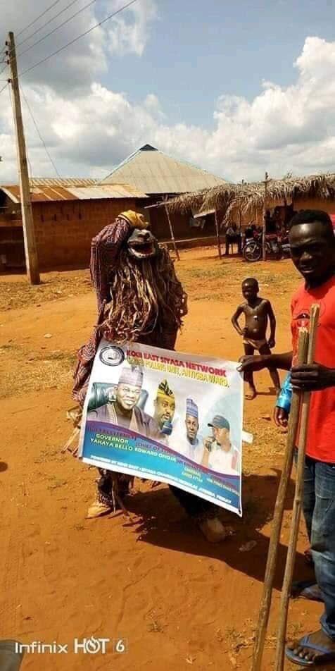 Nigerian Union Of Masquerade Endorses Governor Yahaya Bello Of Kogi State For Second Term(Photos)