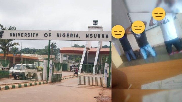 UNN lecturer orders students to kneel down and raise their hands for not sweeping theirclassroom