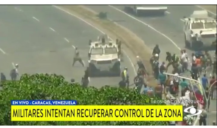 Trouble in Venezuela as military trucks rams over citizens protesting against President Maduro (photos)