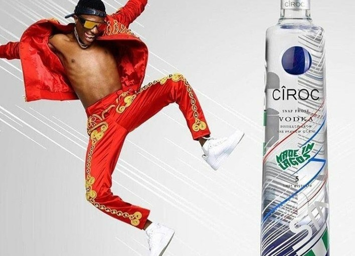 Wizkid Tops other African Artist, becomes the first African Artist to have his own custom built Ciroc bottles (video)