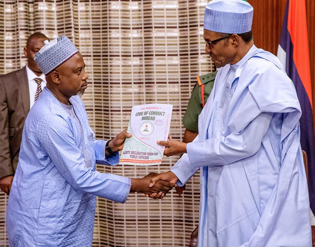 We can't declare President Buhari's Assets to the public – CCB