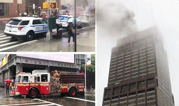 Helicopter crashes on top of a 54-story skyscraper in New York(photos)