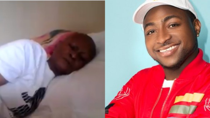 Davido finally sings for the dying woman who wishes he sings for her before her death(photos)