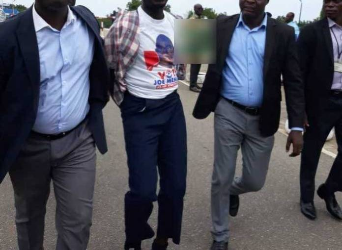 Ghanaian politician arrested for attempting to commit suicide at Ghana's parliament house (photos)