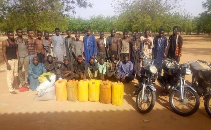 Nigerian Army arrests notorious bandit and kidnap kingpin Mallam Bawa Gomna and 20 others terrorizing KatsinaState