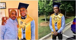 MC Oluomo celebrates his son, as he graduates from US school(photos)