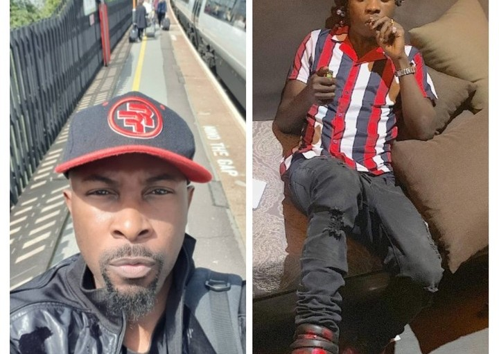 Rugged man attacked and beaten in a London restaurant, few hours after Naira Marley Was Released From Prison (photos)