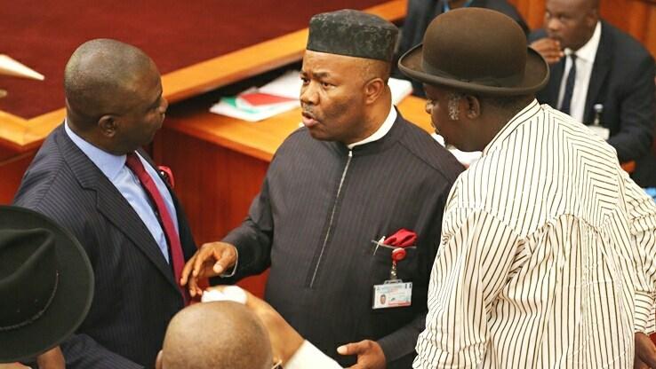 Senator Godswill Akpabio mobbed AtTribunal