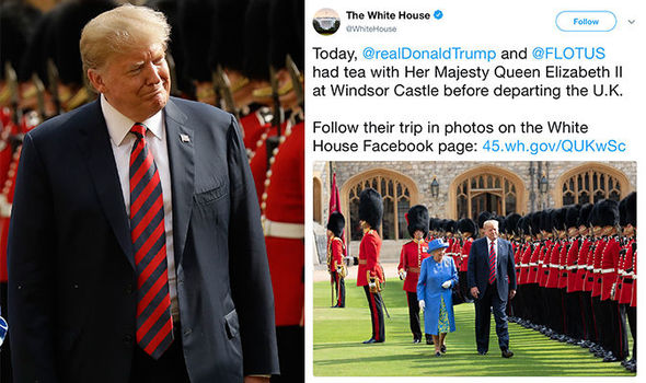 British Citizens Mocks Donald Trump For Visiting Queen Elizabeth (photos)