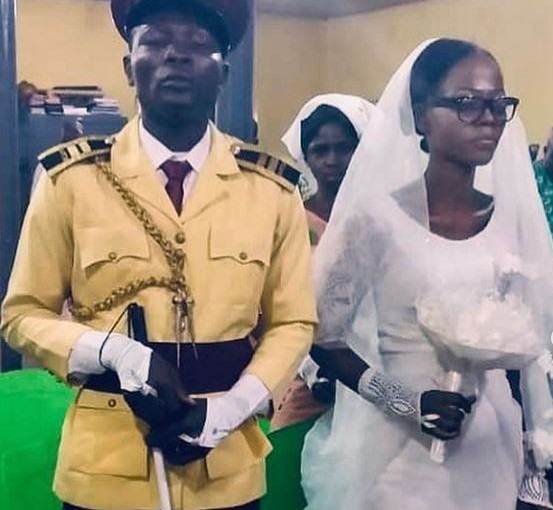 LASTMA officer, Yesufa Olawale who became blind while discharging his official duties gets married in Lagos