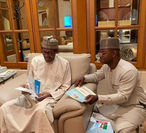 Buhari Assures Yahaya Bello Victory After Going Through His  Nomination Form (photos)