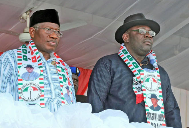 Jonathan and Dickson fights over Next Bayelsa Governor