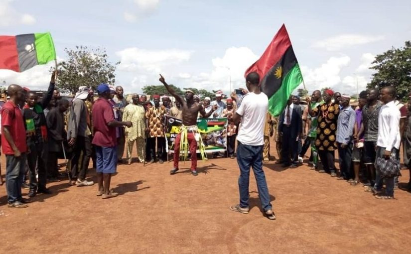 IPOB members stages Ruga protest in Ebonyi