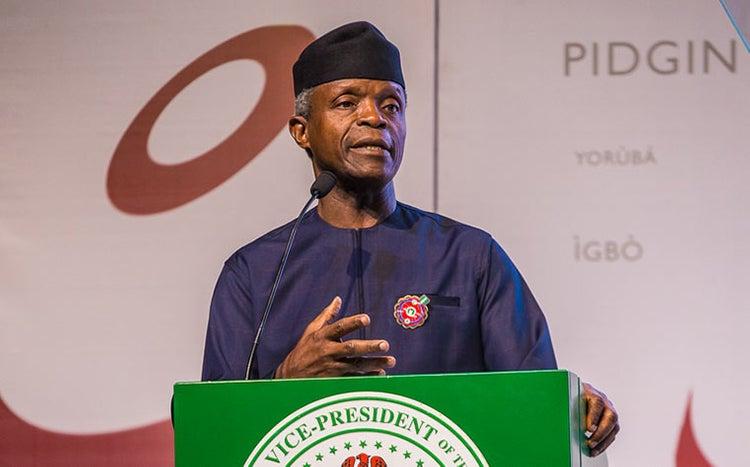 Nigeria Breaking-up Won't Solve The Problems —Osinbajo