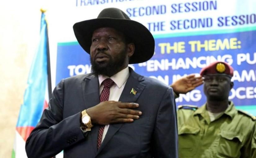 President Kiir of South-Sudan bans singing National Anthem in hisabsence