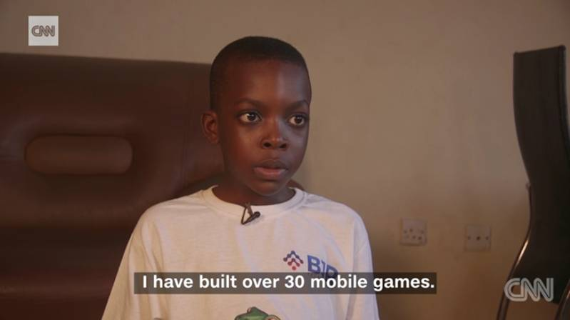 Meet The 9-year-old Nigerian Programmer Who Has Built 30 Mobile Games(video)