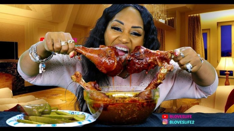 Woman turns millionaire after eating large quantities of food in front of acamera