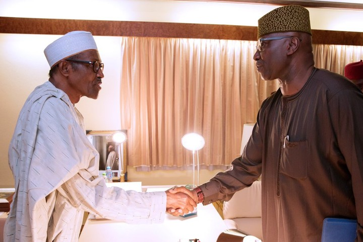 Buhari swears in Boss Mustapha As Sgf For SecondTerm