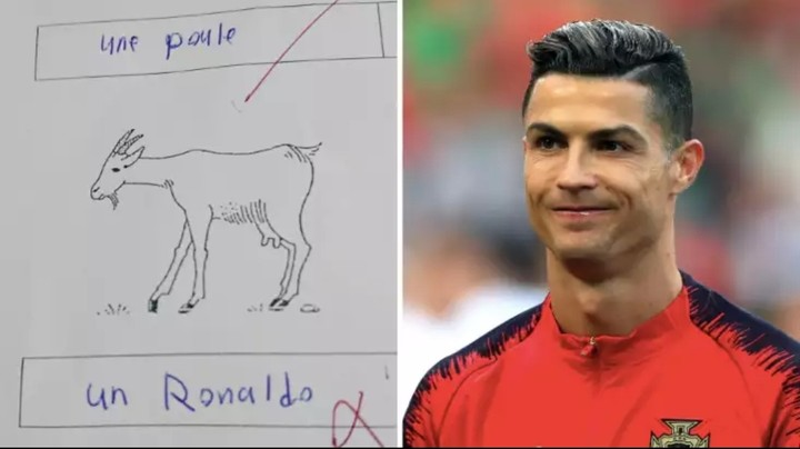 Final year student fails french test after naming Cristiano Ronaldo as a goat