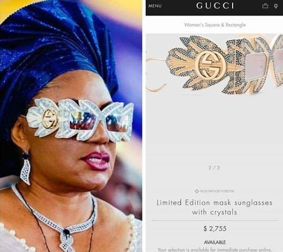 Anambra first lady, Ebele Obiano rocks N1m limited edition Gucci designer sunglasses