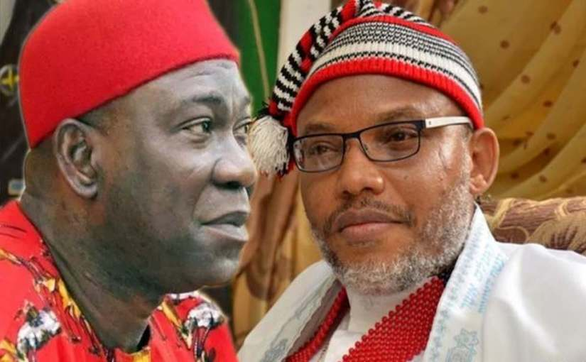 IPOB moves Ex Deputy Senate President, Ike Ekweremadu's Cap To IPOB Museum in Mannheim City, Germany After Beating Him (photos)