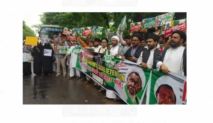 'Free El-zakzaky': Indian Shiites Protest At Nigerian Embassy (photos)