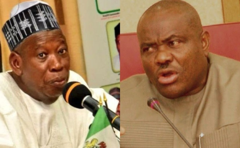 Governor Abdullahi Ganduje vows to institute legal action against Rivers State Governor, Nyesom Wike over demolition of Mosque