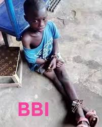 9 year-old boy chained with dog, by his stepmother and father in Abia, Rescued (video)