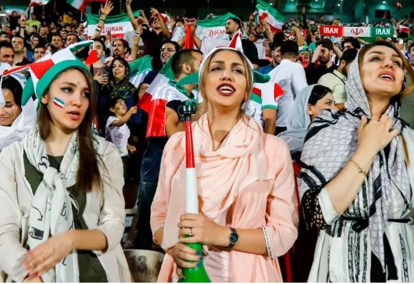 Iranian female fans to be allowed entry into the stadium to watch men's football, since 1979