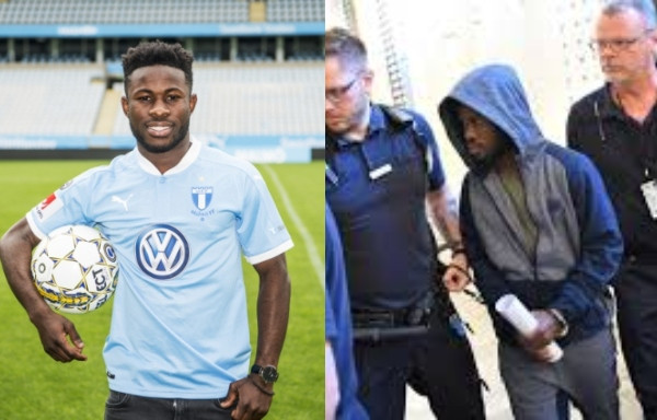 Ghanaian footballer, Kingsley Sarfo finally released from Swedish prison after he was jailed for having s*x with aminor