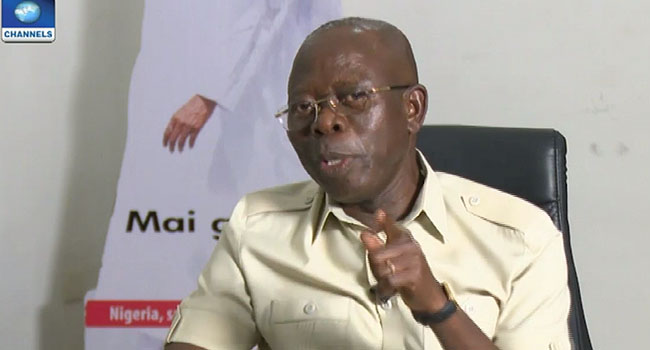 'I Was Trained To Be Combative' – Adams Oshiomhole Rages