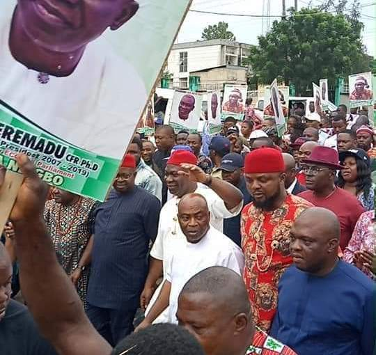 Enugu people stages a solidarity rally over attack of Ike Ekweremadu by IPOB in Germany, Warns Nnamdi Kanu