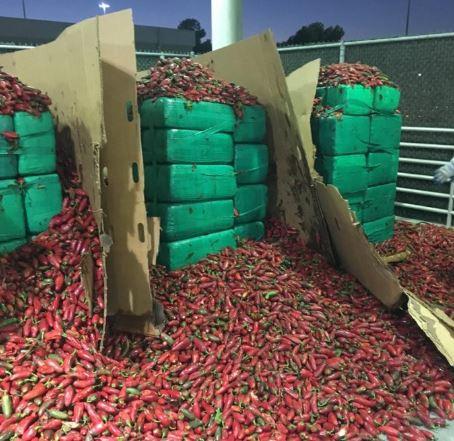 Customs intercepts four tons of marijuana worth $2.3 million hidden in a consignment redpepper
