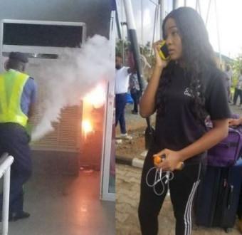 Fire Gulfs Sam Mbakwe Airport Owerri,  Passengers flee(Photos/Video)