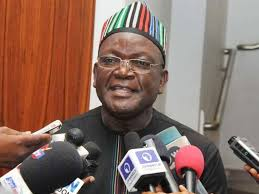 Benue State Governor, Samuel Ortom arrives Petition Tribunal to open hisdefence