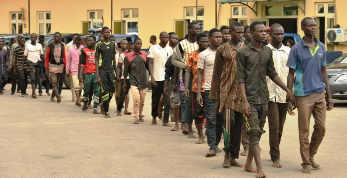 123 Men Arrested In Truck Intercepted By Lagos Taskforce, Released by Police