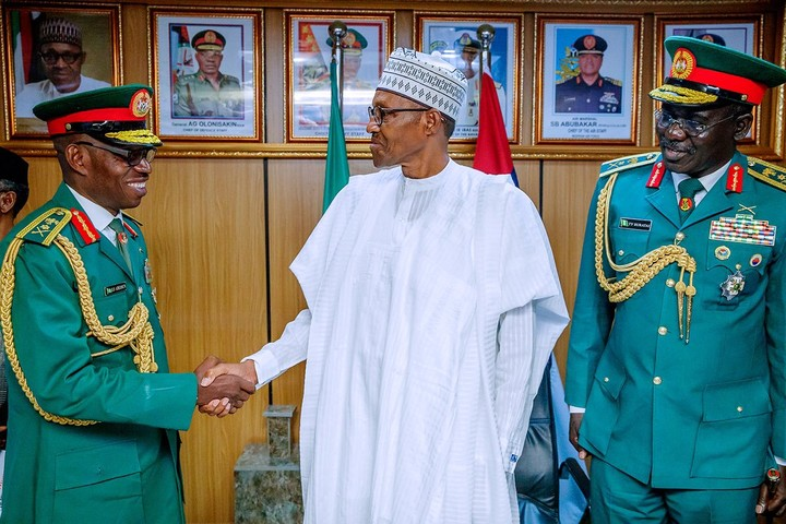 Xenophobic attacks: Buhari meets with Army chief's to fight South African attack