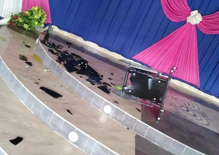 Akwa Ibom union of Masquerades invades a church destroy properties, beat up parishioners after pastor preached against their violentactivities