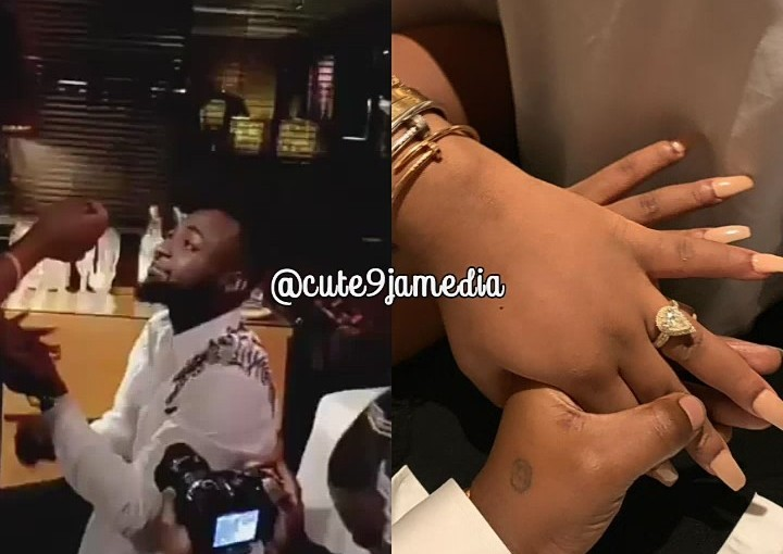 Nigerian Pop star, Davido has finally proposed to his long time girlfriend, Chioma (photos&video)