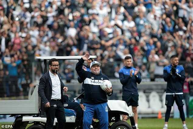 Argentina Legend Diego Maradona cries as fans welcomes him as a new coach