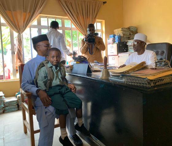 Nasir El-Rufai of Kaduna state, enrols his 6-year old son in a public primary school(Photos)