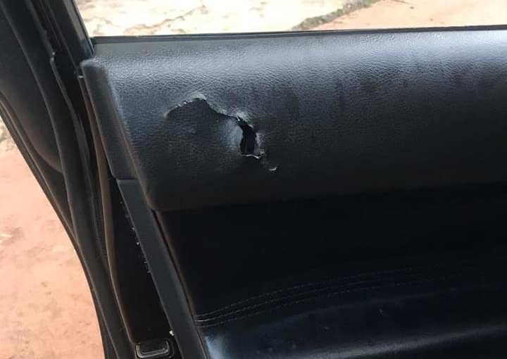 APC Chieftain shot by unknown gunmen(photos)